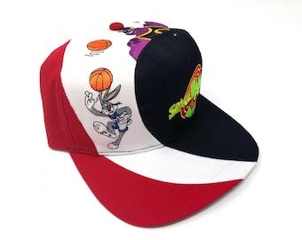 35052c85f546c Vintage Space Jam Hat Monstars Bugs Bunny Looney Tunes Deadstock Snapback  90s