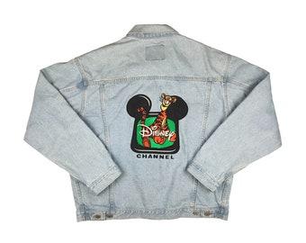 size small 1990\u2019s cropped Winnie the Pooh denim jacket
