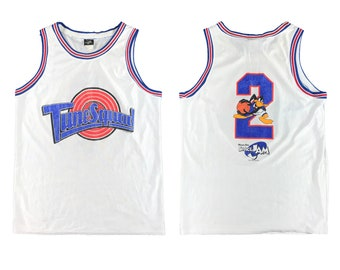 d43f938f3 Vintage Daffy Duck Tune Squad Jersey Space Jam  2 90s Basketball Authentic  Original 1996