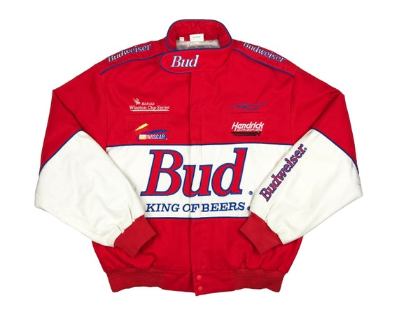 Vintage Budweiser Racing Jacket 90s NASCAR Ricky C