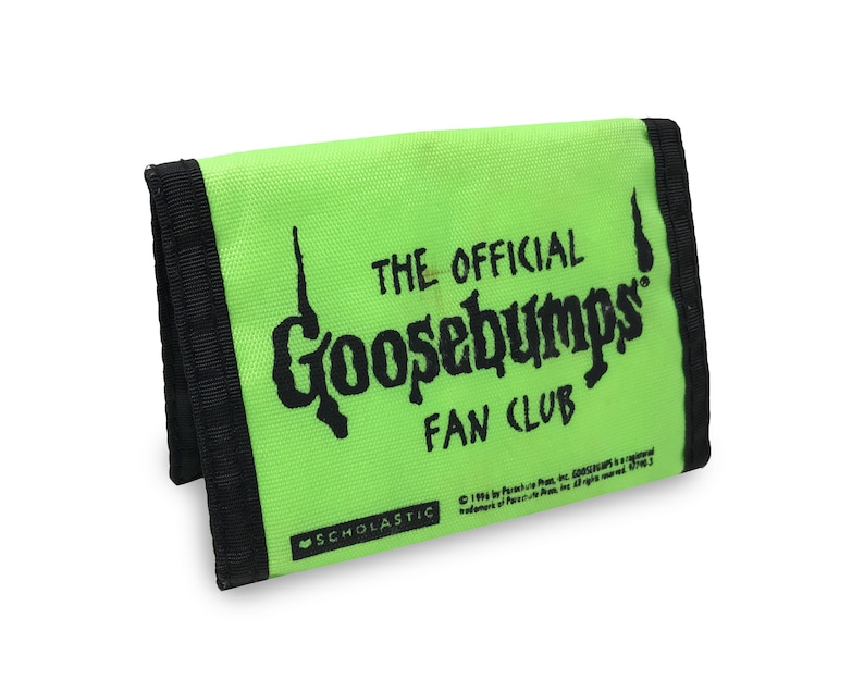 Vintage Goosebumps Wallet 90s Scholastic Official Fan Club image 0