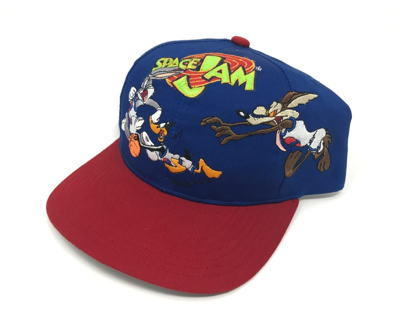 f4a50a4df4d7b0 Vintage Space Jam Hat Bugs Bunny Daffy Duck Wile E Coyote