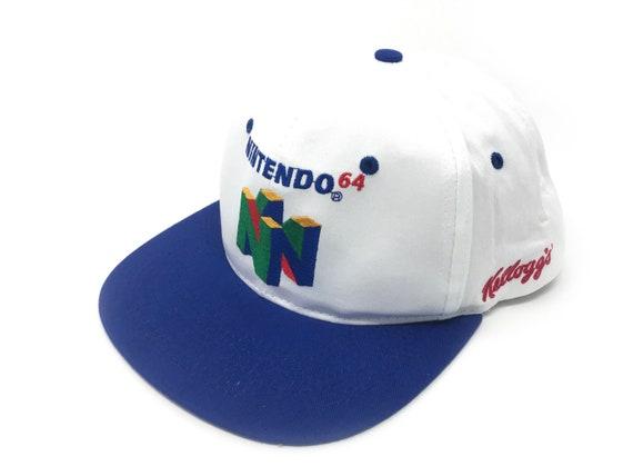 ffa2915e Vintage Nintendo 64 Hat Deadstock Snapback Super Mario 64 N64 | Etsy