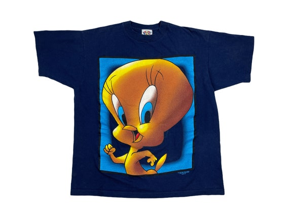 Graphic Tee Tweety Bird Throw Back Retro 90/'s Style 90/'s Fashion 1990/'s Vintage Looney Tunes Tweety Bird T-Shirt Vintage Looney Tunes