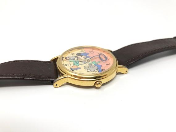 Vintage Mickey Mouse Watch Cowboy Lasso 90s Disne… - image 3