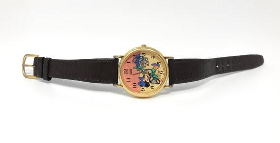 Vintage Mickey Mouse Watch Cowboy Lasso 90s Disne… - image 2