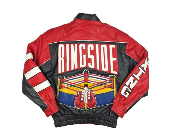 Vintage Ringside Boxing Leather Jacket 90s Gloves