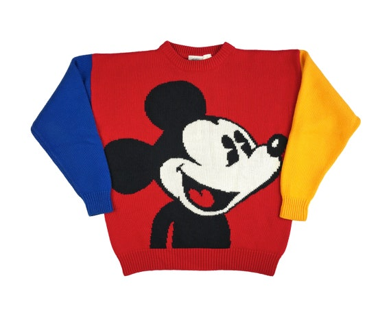 Vintage Mickey Mouse Sweater Acrylic Disney Mickey