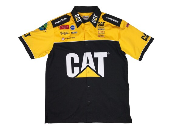 Vintage CAT Racing Shirt NASCAR Caterpillar Ward B