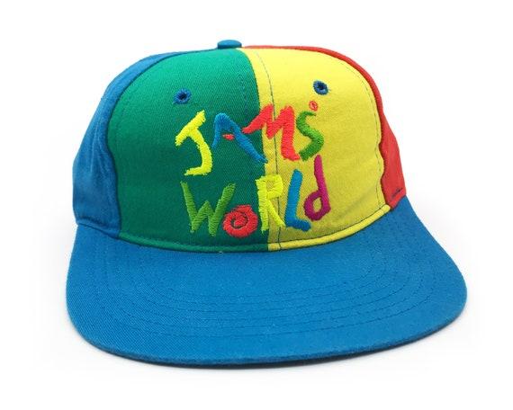 Vintage Jams World Hat 90s Snapback Colorblock B5