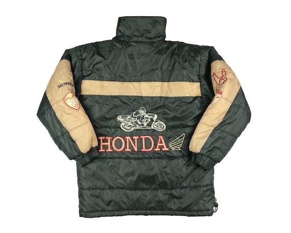 Vintage Honda Puffer Jacket 80s Motorcycle Racing