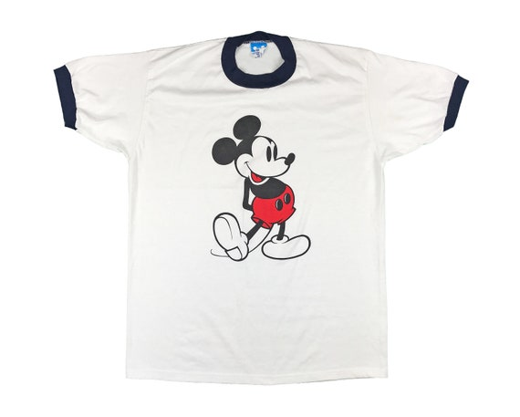 Vintage Mickey Mouse Shirt Ringer T 80s V2