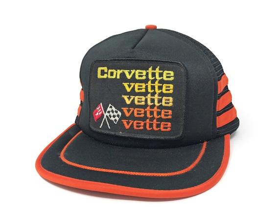 Vintage Corvette Racing Hat 90s Snapback Trucker 3