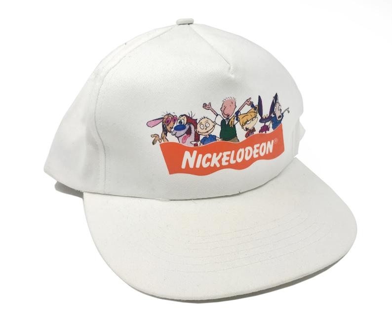 5b757c403 Vintage Nickelodeon Hat 90s Snapback Nicktoons Rugrats Doug Ren Stimpy  Rocko's Modern Life Aah Real Monsters