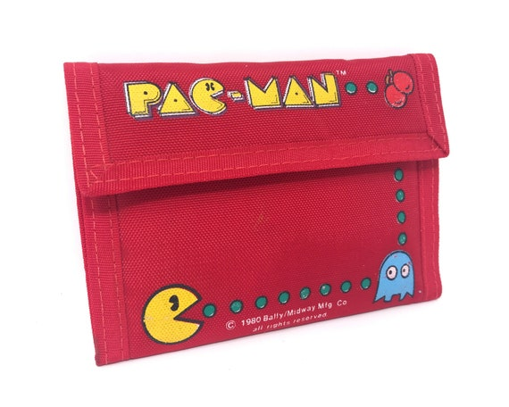 Vintage Pacman Wallet 80s Arcade Pac-Man Namco Mid
