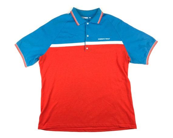 Vintage Dominos Pizza Polo Shirt Employee Uniform