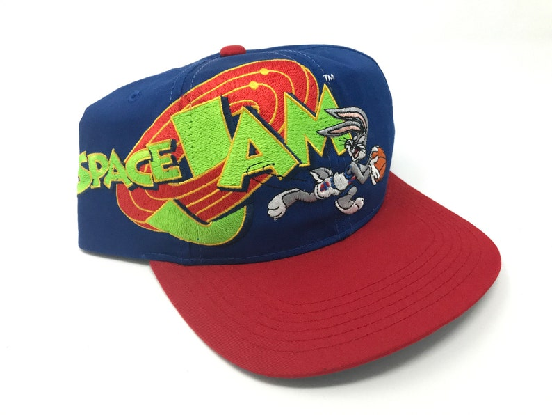 3eceb96f0b651d Vintage Space Jam Hat Bugs Bunny Deadstock Snapback 90s Tune