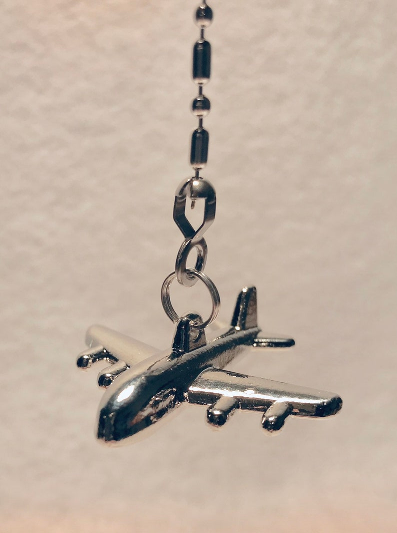 Jet plane airplane ceiling fan pull chain light pull chain