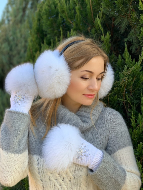 crystal  earmuffs  winter earmuffs