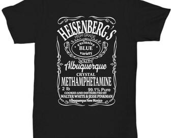 ecb78cde223d Heisenberg's Blue Sky Crystal Meth unisex t shirt, Novelty t shirt, T- shirt  for Dad