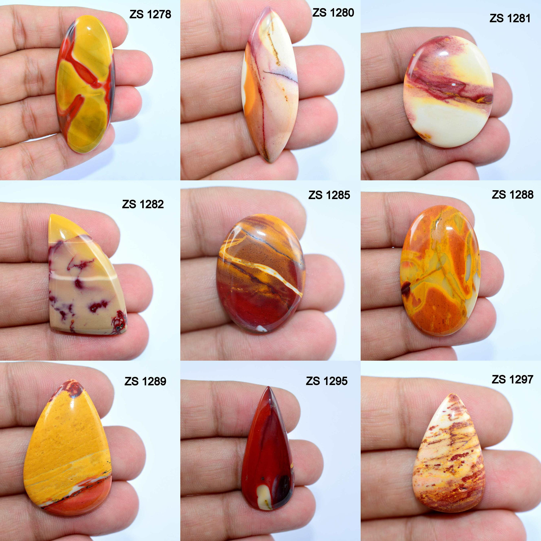 Natural   Mookaite Jasper  Gemstone  37x29x4mm  Mookaite Jasper  Cabochon  For Jewelry Making 1111