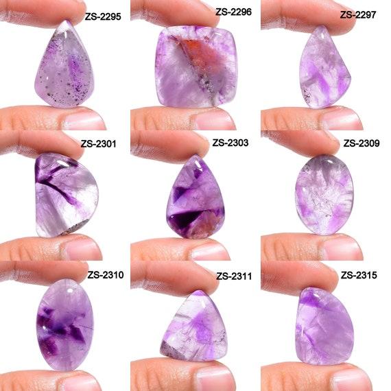 Smooth Trapiche Amethyst Cabochon Gemstone Loose Jewelry Marvelous Trapiche Amethyst Cabochon Loose Gemstone ZS 7841