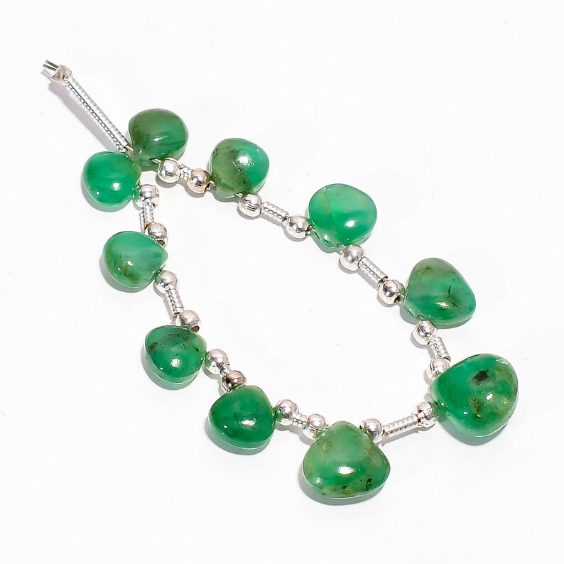 Zs 2567 Outstanding Emerald Beaded Beads Gemstone Smooth Emerald Beads Gemstone Jewelry