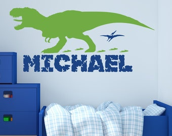 Dinosaur Wall Decal - Custom Name Wall Decor Art Personalized Nursery  Sticker Kids Vinyl Mural Gift 39df0a228e
