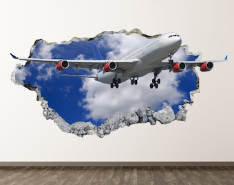 Airplane wall decals | Etsy