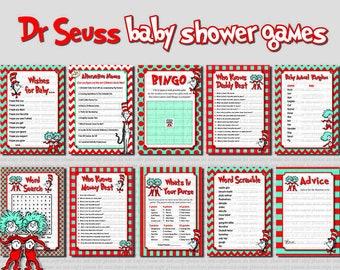 Dr Seuss Baby Shower Etsy