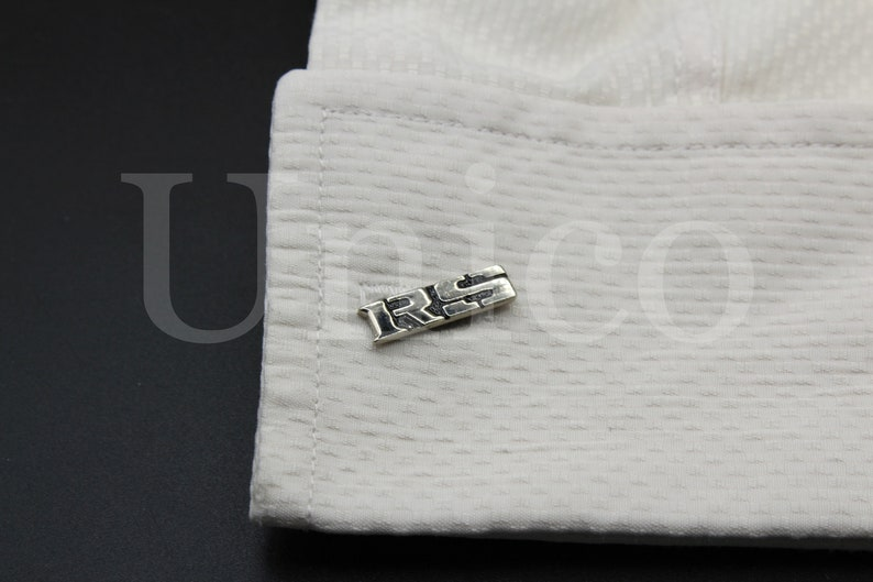 New Cufflinks for RS Luxury Super Sport Car Black Dress French Polished Racing