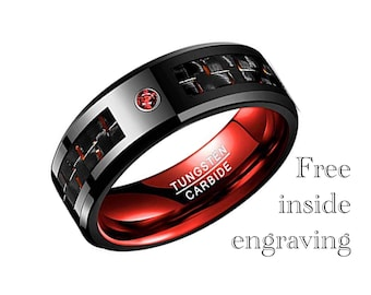 Red Tungsten Wedding Band 614a1c1f9af1