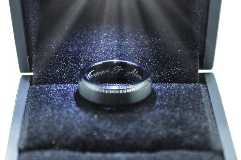 Rose Gold Silver Tungsten Wedding Band Skinny Wedding Ring Brushed Silver Ring Minimalist Wedding Band Simple Engagement Ring Custom 2mm