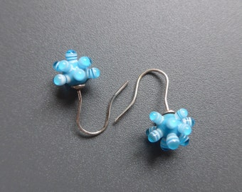 Earrings-Sputnik in turquoise-KAZE