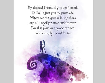 Jack And Sally Quote Etsy