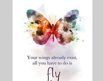 Butterfly Quote Etsy