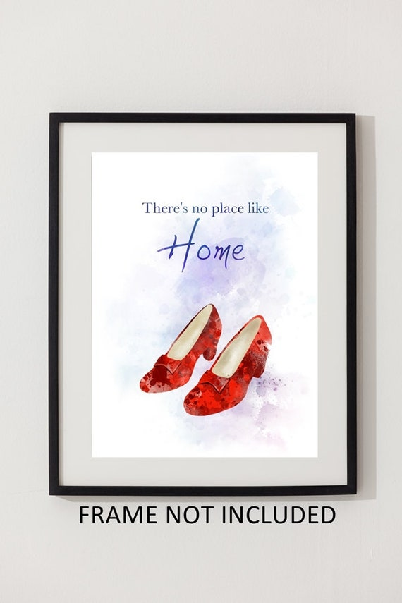 Wizzard of Oz Dorothy Ruby Slippers Quote A4 Print Poster Art Framed Gift Home