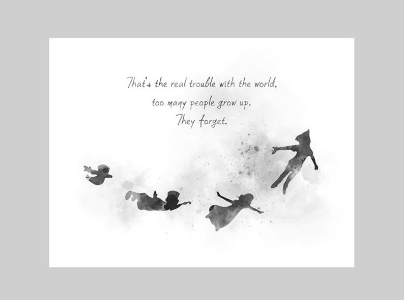 Disney Peter Pan /& Wendy Quote Art Print Unframed Gift Home Birthday