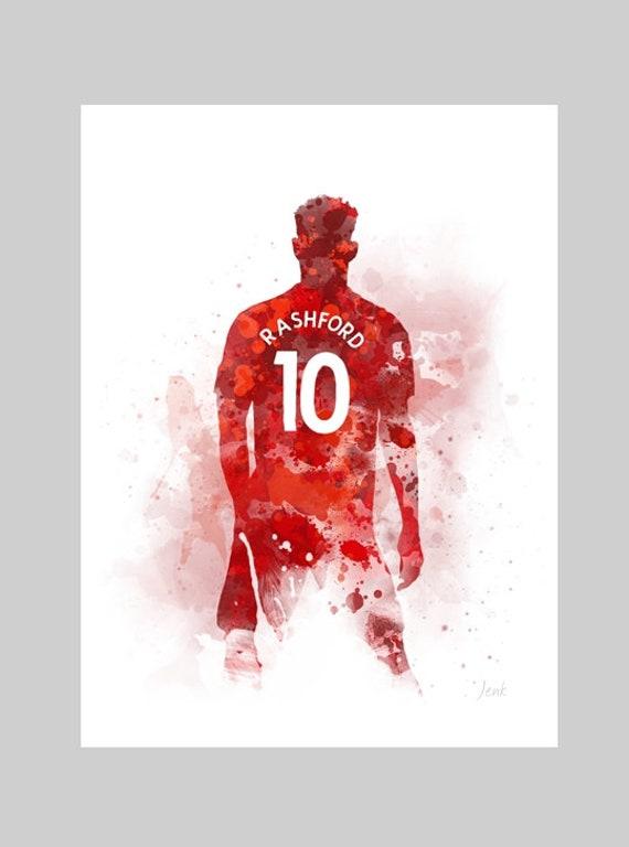 Marcus Rashford Art Print Manchester United Football Sport Etsy