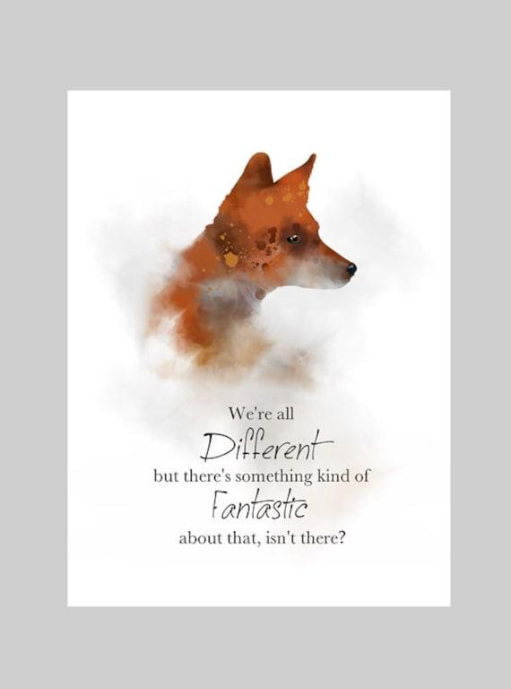 Fantastic Mr Fox Quote Art Print Roald Dahl Nursery Gift Etsy