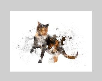 Tortoiseshell Cat ART PRINT Animal, Gift, Wall Art, Home Decor