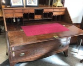 18th Century George The Third Mahogany Writing Bureau With Secret Compartment