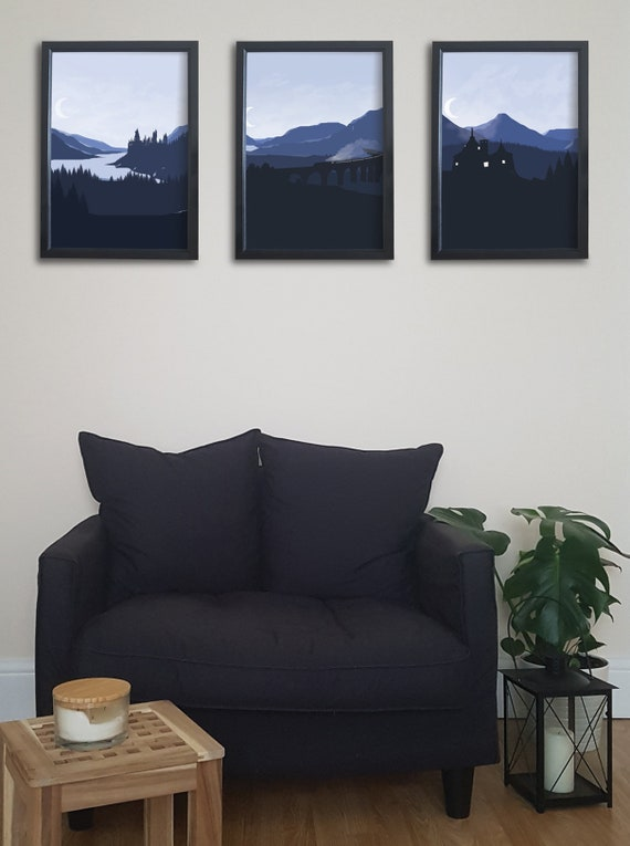 Set of 3 Harry Potter Prints