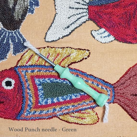 Best White+Blue Three Sized Embroidery Needle Punch Needle Punching Punch Needle Tool Set Embroidery Needles