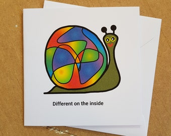 snail just because card