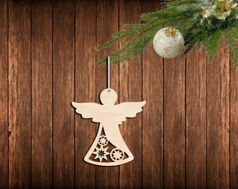 angel figurine christmas angel cutout wooden angel silhouette angel ornament laser cut angel unfinished wood cutouts laser cut shapes