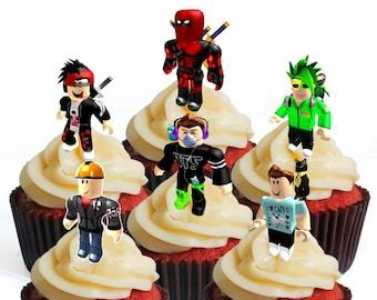 Roblox Birthday Cupcakes Roblox Girl Cake Etsy
