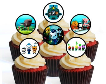 Other Baking Accessories 61st Birthday Mens Football Themed Edible Cup Cake Toppers Decorations Precut