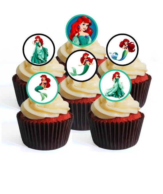 6 Disney Princess Jasmine Edible Card Rice Paper Cupcake Cake Toppers Birthday
