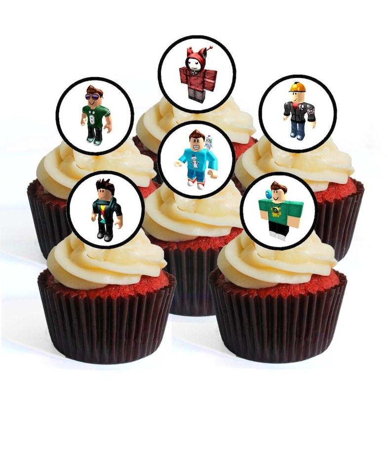 12 pre cut Fortnite edible cake cupcake toppers icing paper